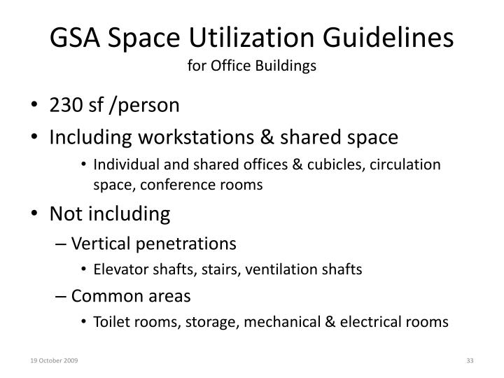GSA Space Utilization Guidelines