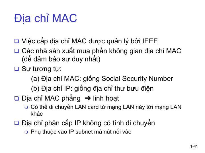 Địa chỉ MAC
