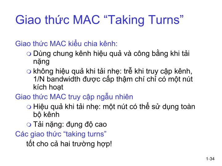 "Giao thức MAC ""Taking Turns"""
