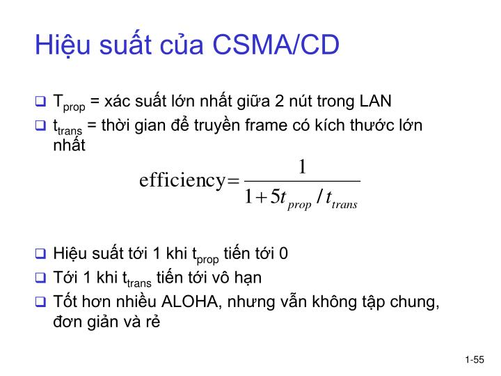 Hiệu suất của CSMA/CD