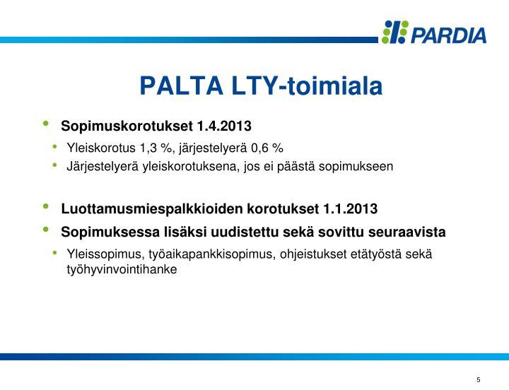 PALTA LTY-toimiala