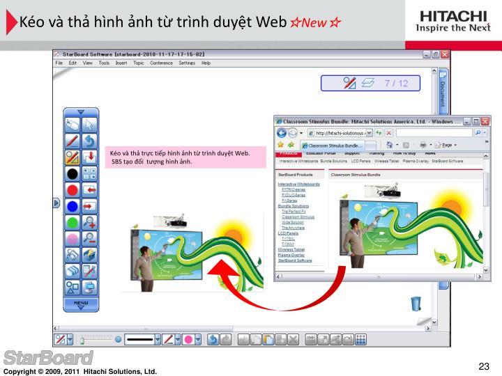 Kéo và thả hình ảnh từ trình duyệt Web