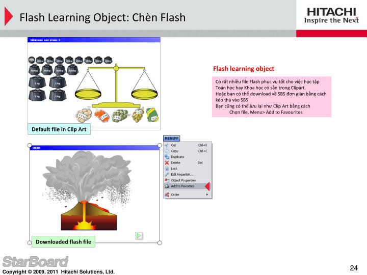 Flash learning object
