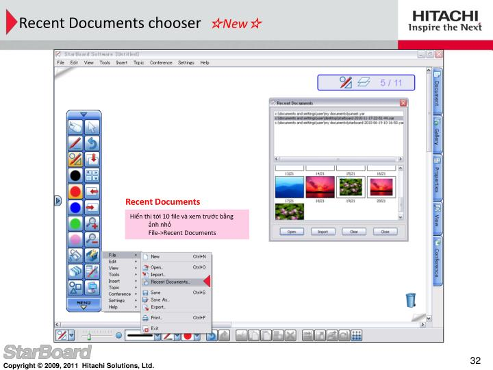 Recent Documents chooser