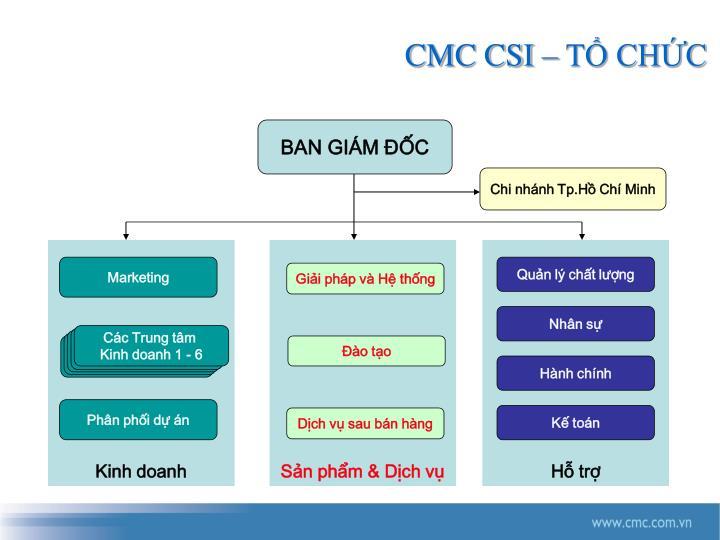 CMC CSI – TỔ CHỨC