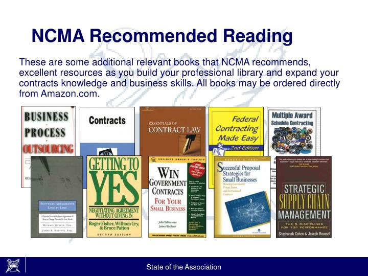 NCMA Recommended Reading