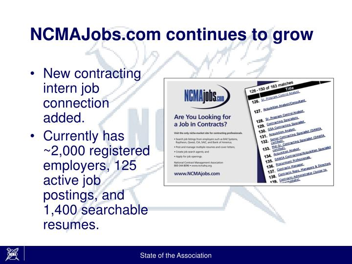NCMAJobs.com continues to grow