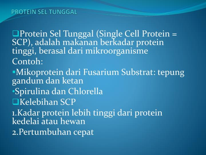 PROTEIN SEL TUNGGAL