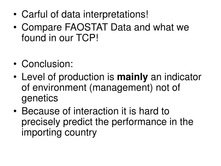 Carful of data interpretations!