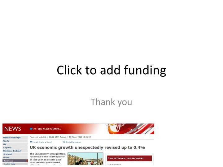 Click to add funding