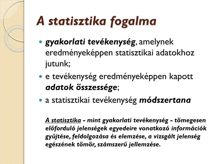 A statisztika fogalma