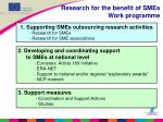 research for the benefit of smes work programme1