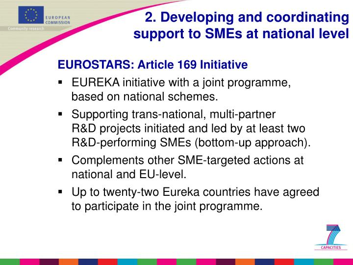 EUROSTARS: Article 169 Initiative