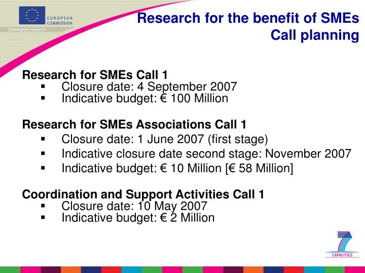 Research for SMEs Call 1