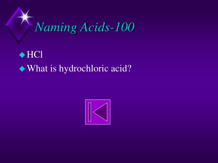 Naming Acids-100