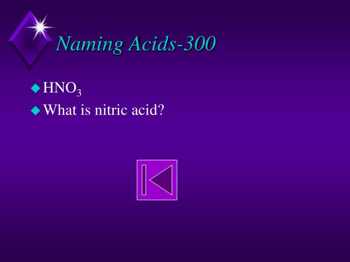 Naming Acids-300