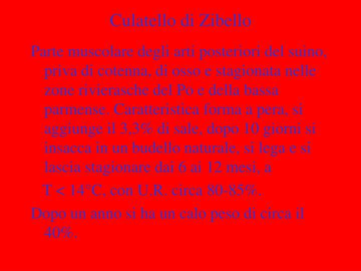 Culatello di Zibello