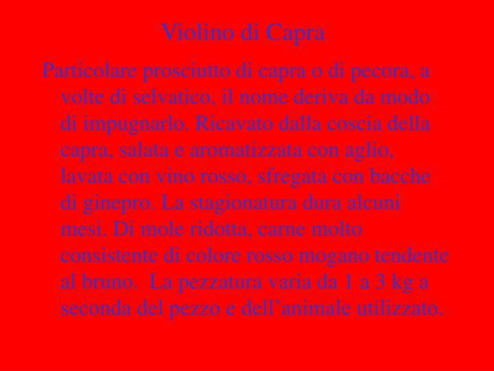 Violino di Capra