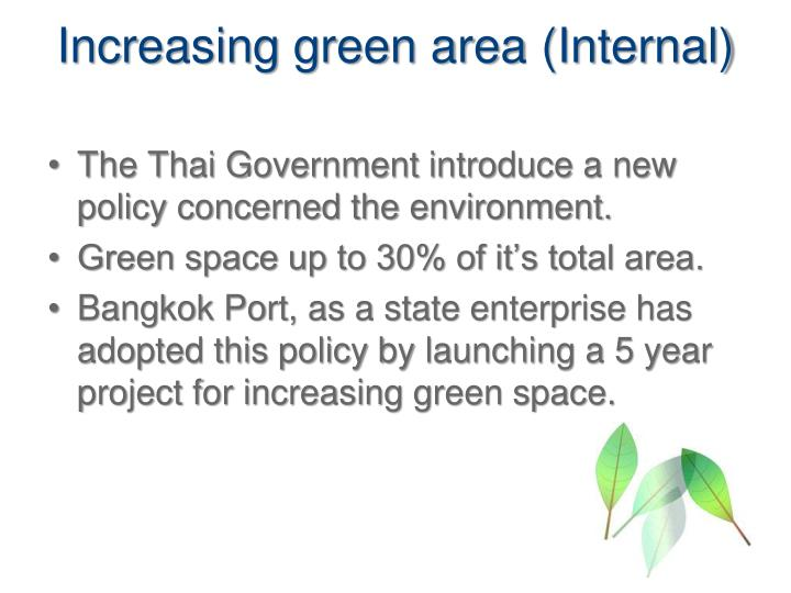 Increasing green area (Internal)