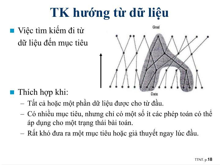 TK hướng từ dữ liệu