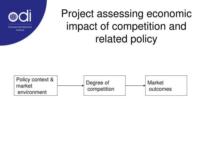 Project assessing economic impact of competition and related policy