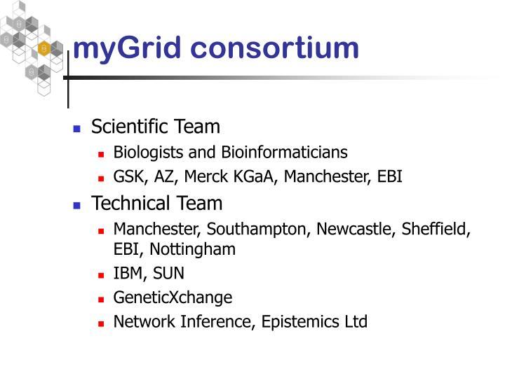 myGrid consortium