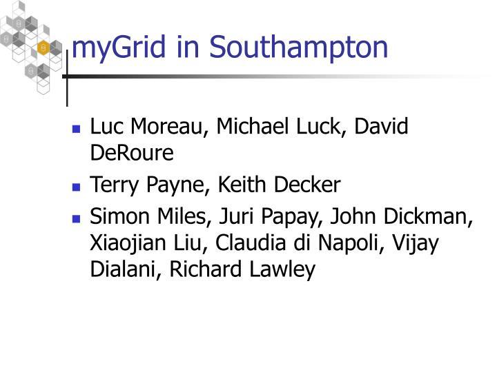 myGrid in Southampton
