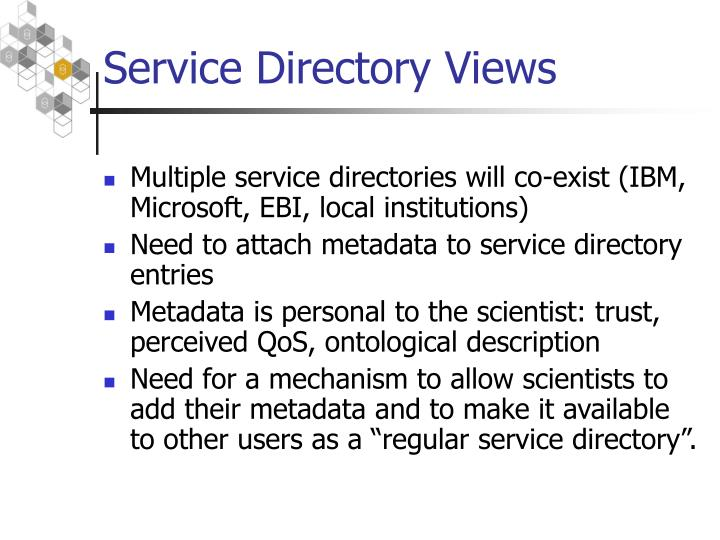 Service Directory Views