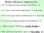 boiler efficiency improves by