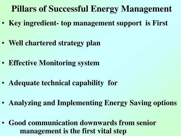 Pillars of Successful Energy Management