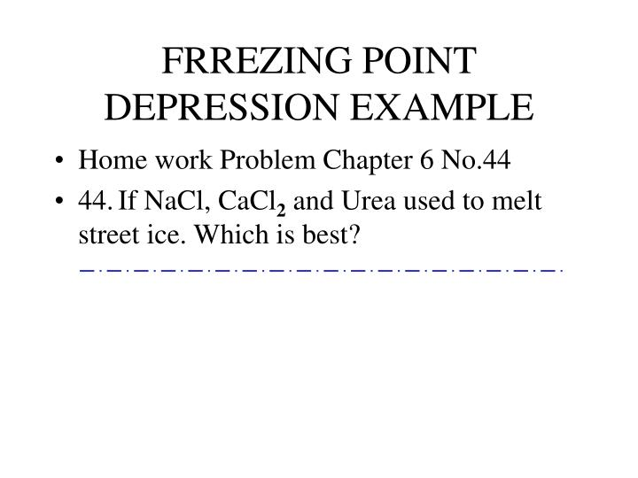 FRREZING POINT DEPRESSION EXAMPLE