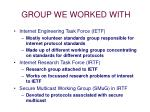group we worked with