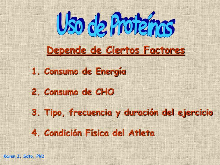 Uso de Proteínas