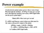 power example1