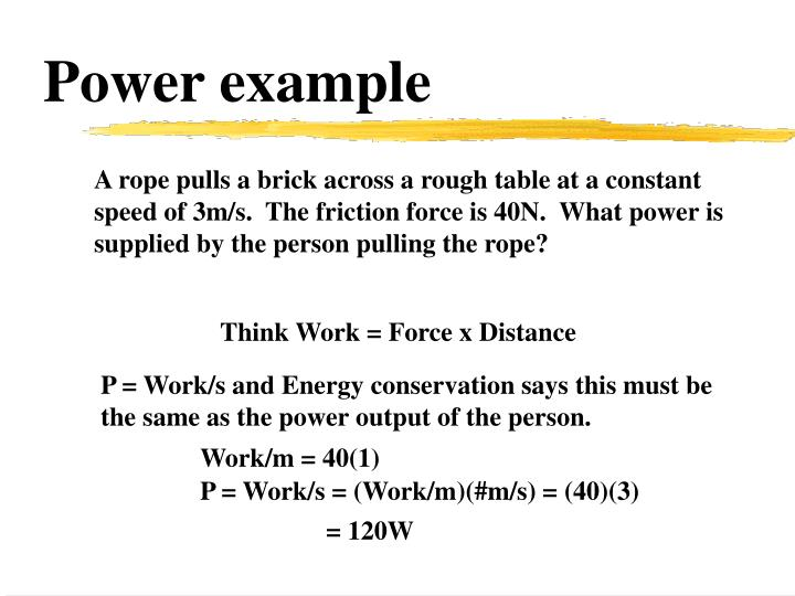 Power example