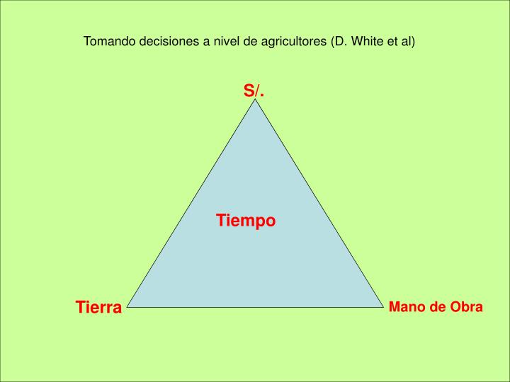 Tomando decisiones a nivel de agricultores (D. White et al)