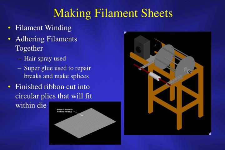 Making Filament Sheets