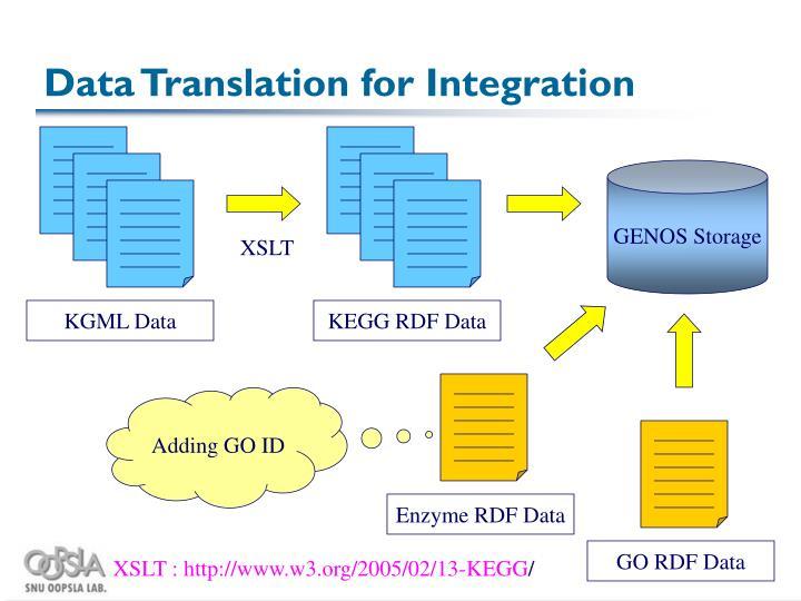 Data Translation for Integration