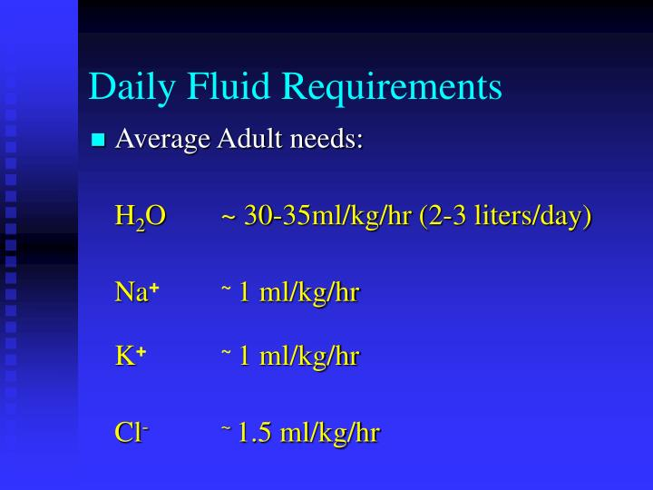 Daily Fluid Requirements