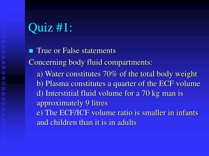 Quiz #1:
