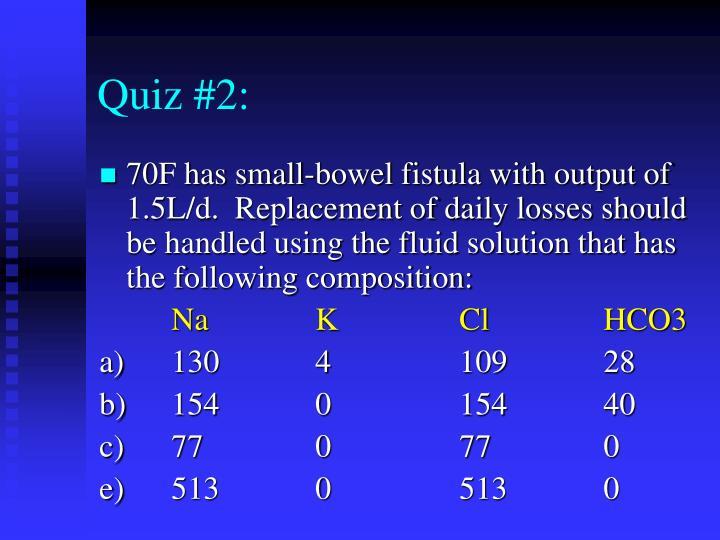 Quiz #2:
