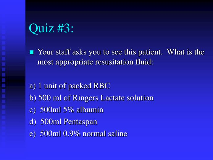 Quiz #3: