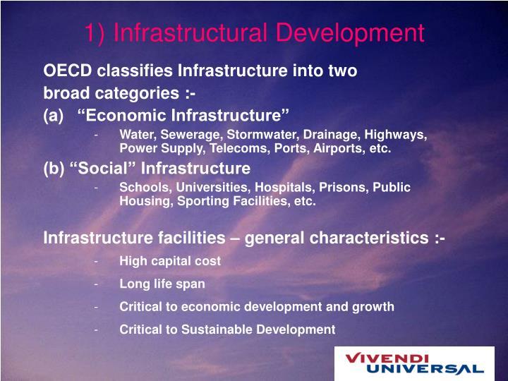 1) Infrastructural Development