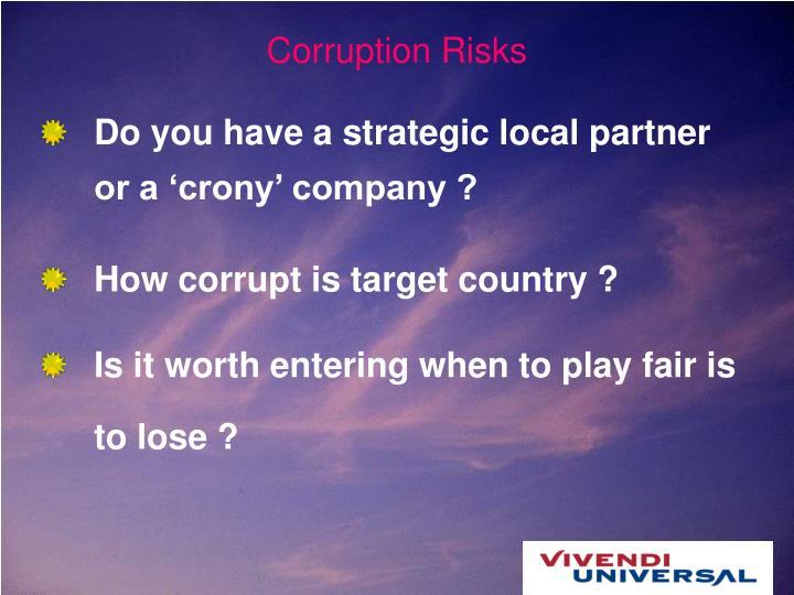 Corruption Risks