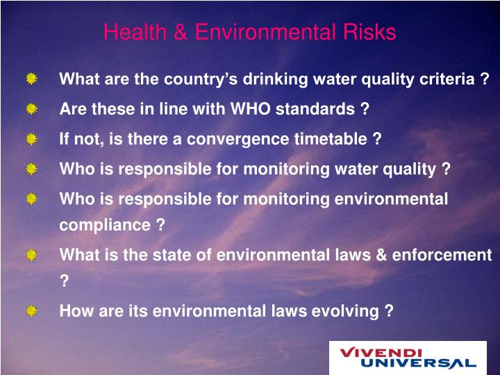 Health & Environmental Risks