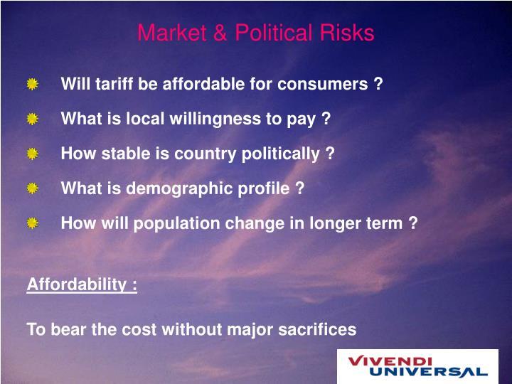 Market & Political Risks