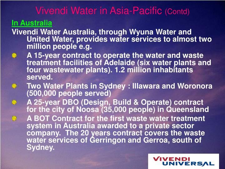 Vivendi Water in Asia-Pacific