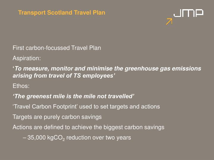 Transport Scotland Travel Plan