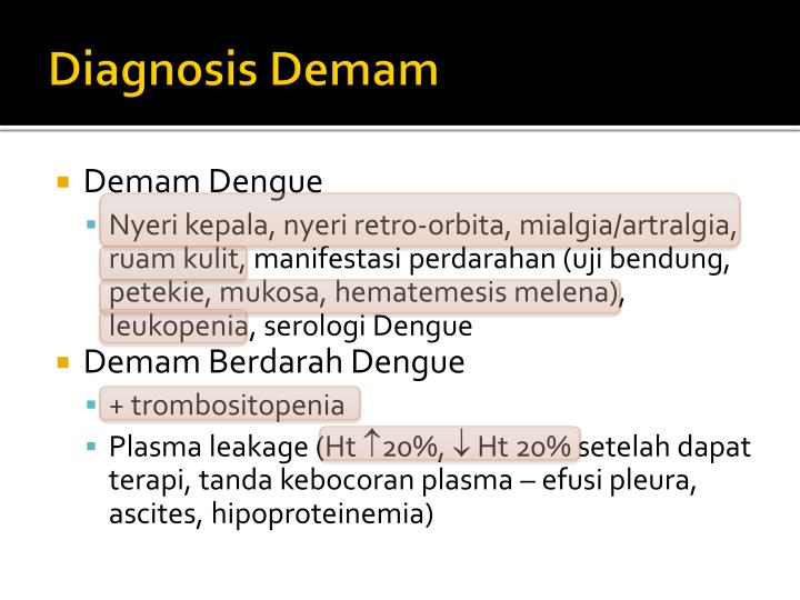 Diagnosis Demam