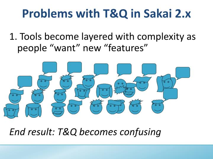 "1. Tools become layered with complexity as people ""want"" new ""features"""
